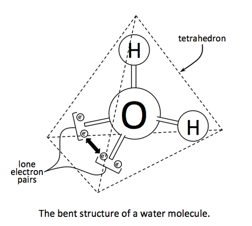 Water Molecule Diagram Black And White.Biology Molecular Structure And Bonding Of Water Expii